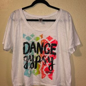 Pre-own Zumba cropped tee size XL